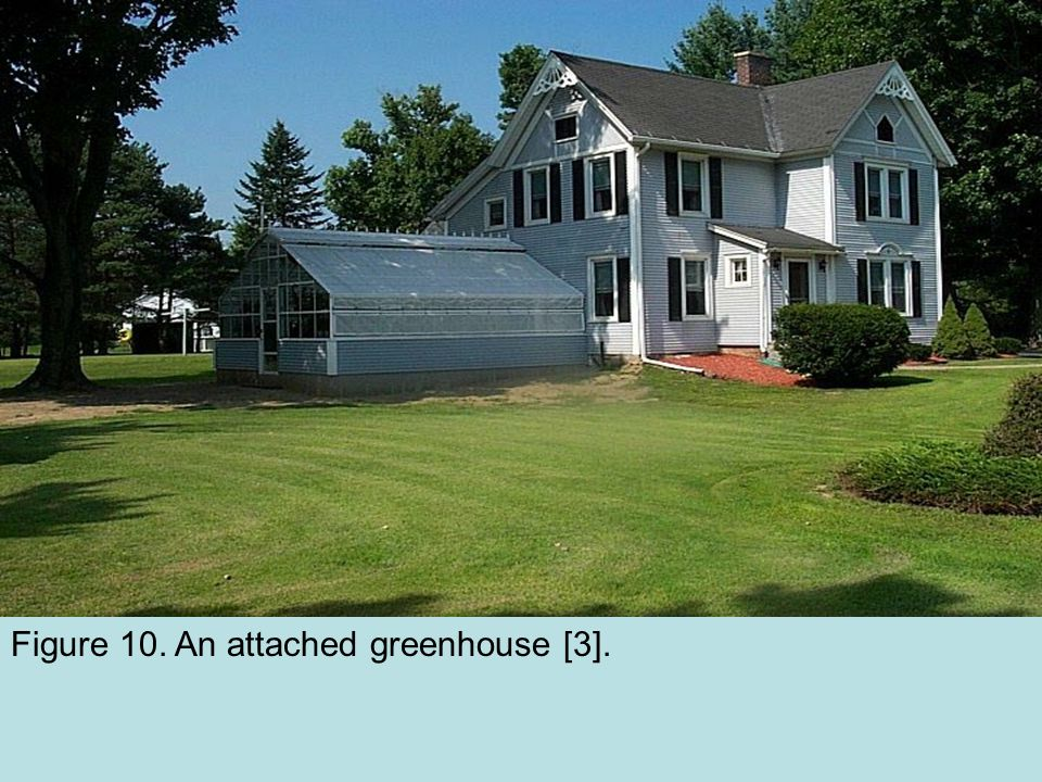 Figure 10. An attached greenhouse [3].